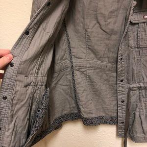 Anthropologie Jackets & Coats - Anthropologie Gray Cotton Utility Jacket Size 10